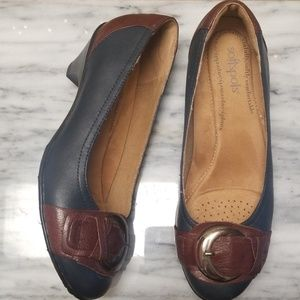 Softspots Leather Heels Size 8W